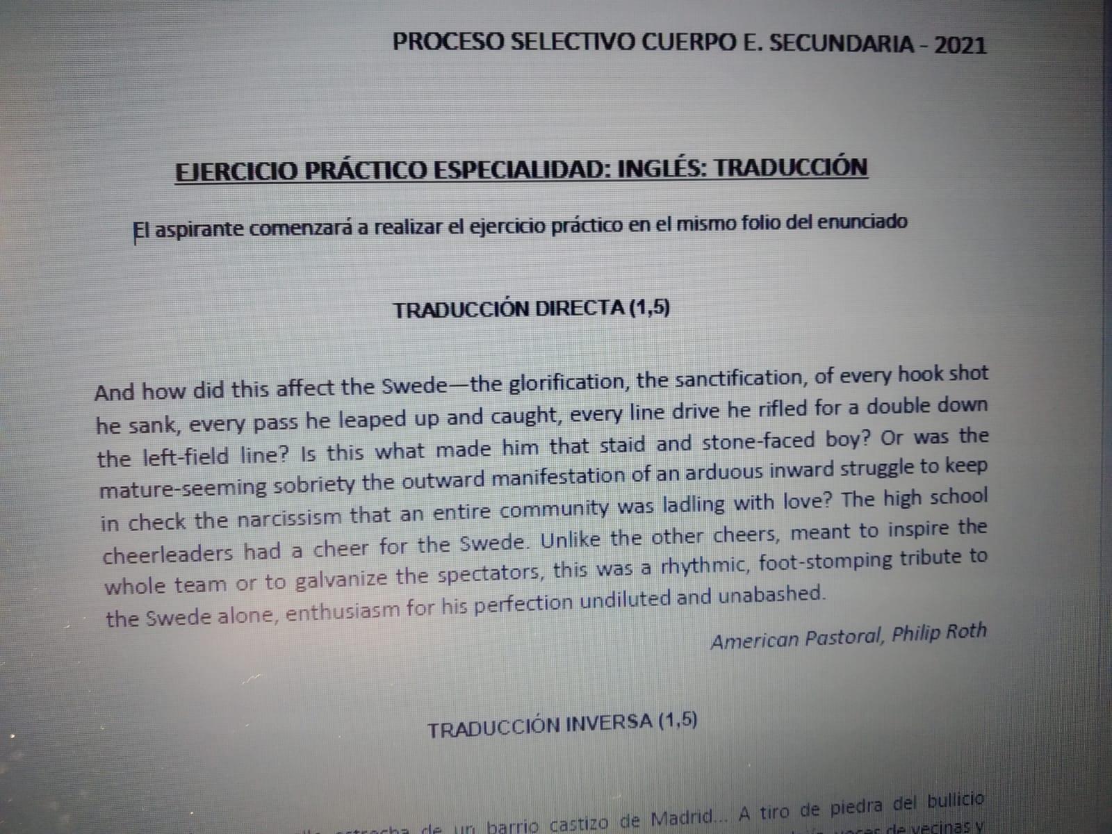¿Quién diseña los exámenes de las oposiciones de inglés en Madrid?